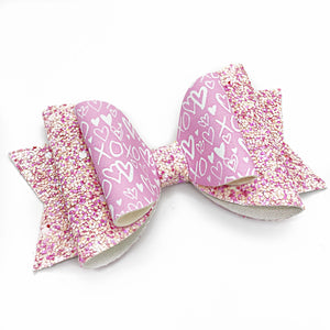 "Candied Hugs & Kisses Glam Bow (4.5"")"