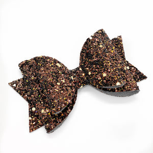 "Deep Brown Glam Bow (4.5"")"