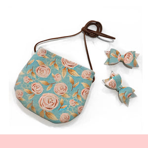 Turquoise Floral Tote