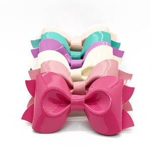 "NEW Preslee Pinch Shine Bow (3.5"")"