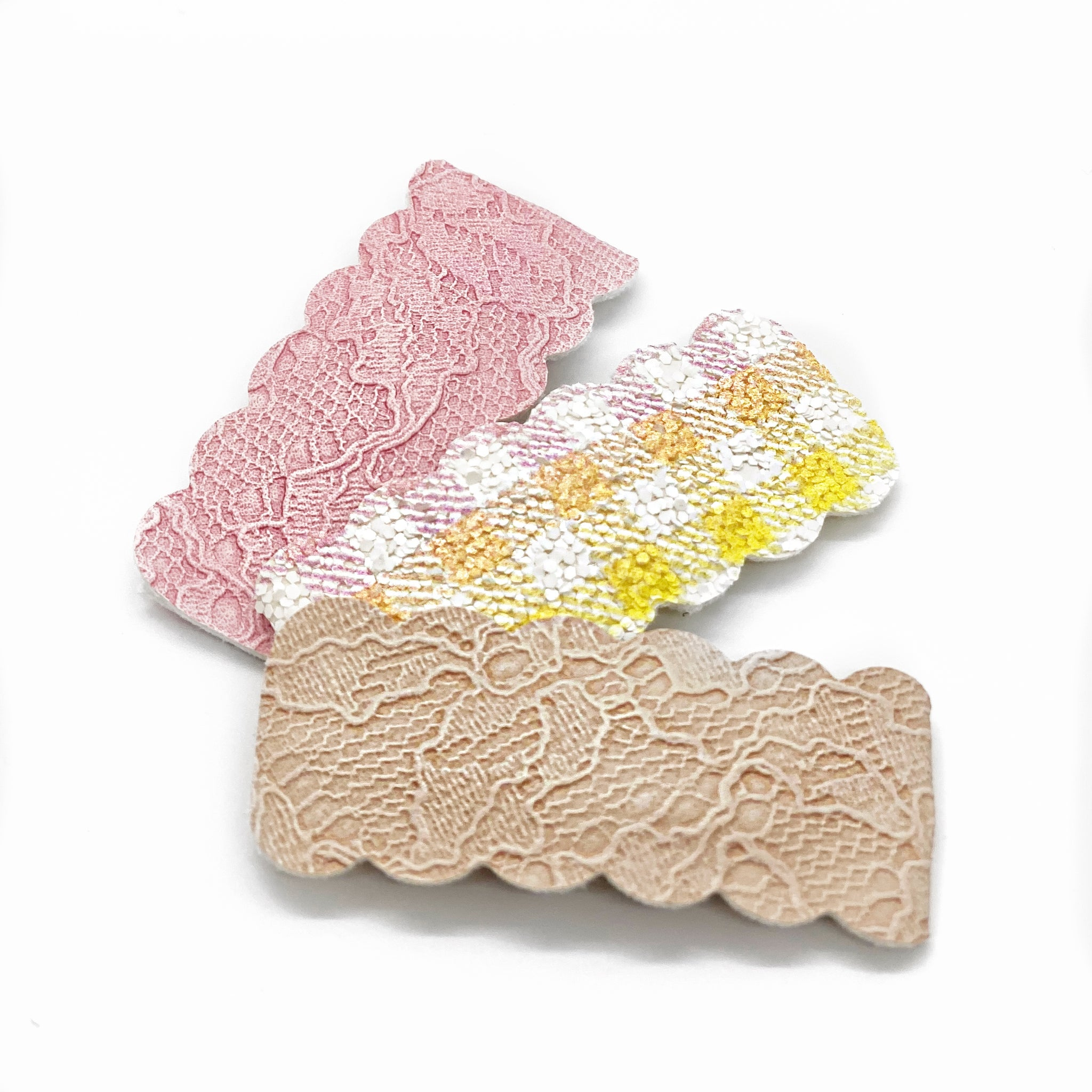 "NEW Lace & Gingham Snap Set (1.5"")"