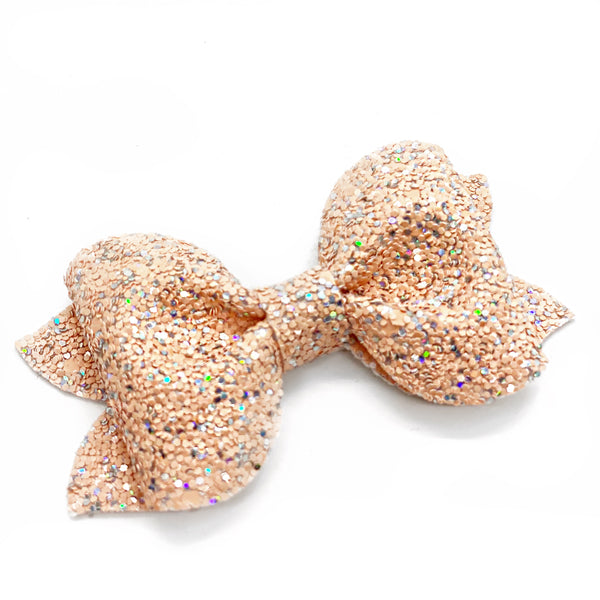 "NEW Preslee Pinch Glitter Bow (3.5"")"