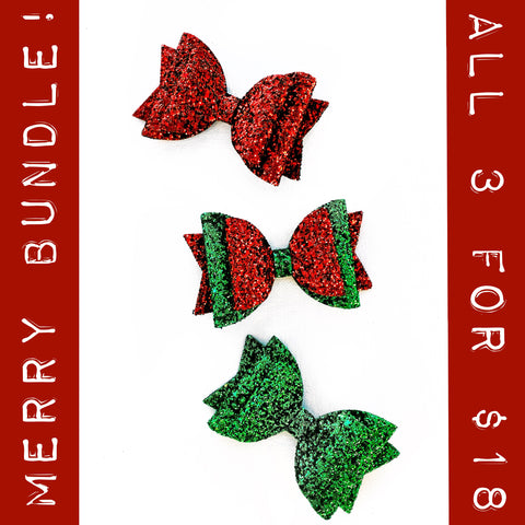 "Merry Sparkle Glam Bow (4.5"")"