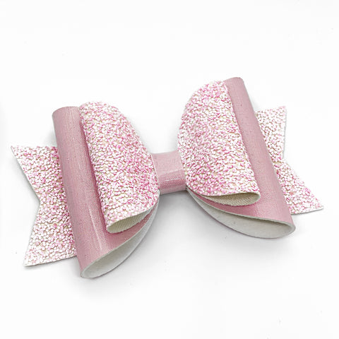 "Pink Lip Gloss Glam Bow (4.5"")"