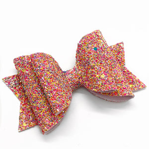 "Easter Sprinkle Glam Bow (4.5"")"