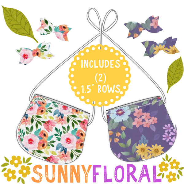 Sunny Florals Tote AND Snaps  (SHIP BY: JUNE 30)