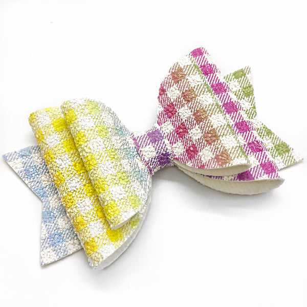 "Sparkle Gingham Glam Bow (4.5"")"