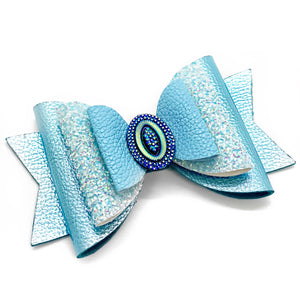"Princess Cinderella Glam Bow (4.5"")"