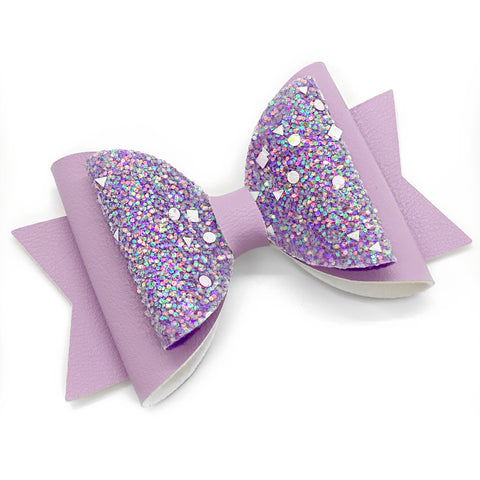 "2-Tone  Purple Glam Bow (4.5"")"