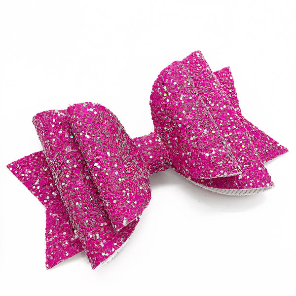 "NEW Glitter Glam Bow (4.5"")"
