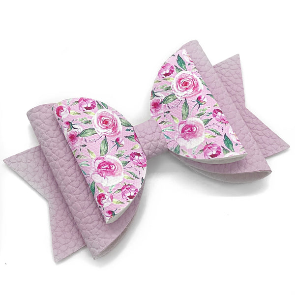 "Cupid Floral Glam Bow (4.5"")"