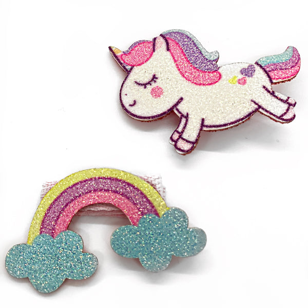 "Rainbow Unicorn Snaps (2"" Snap Clip)"