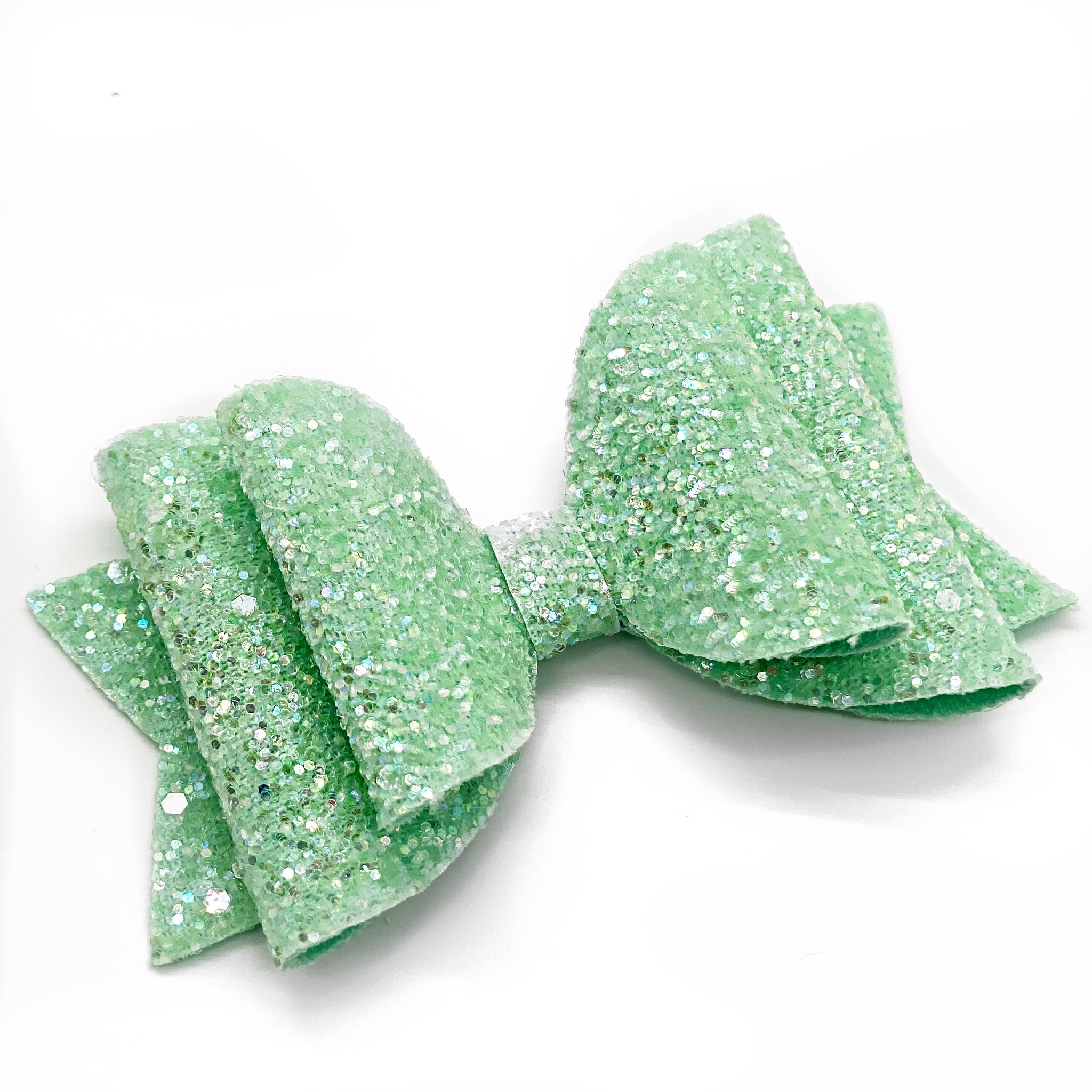 "Spring Mint Glam Bow (4.5"")"