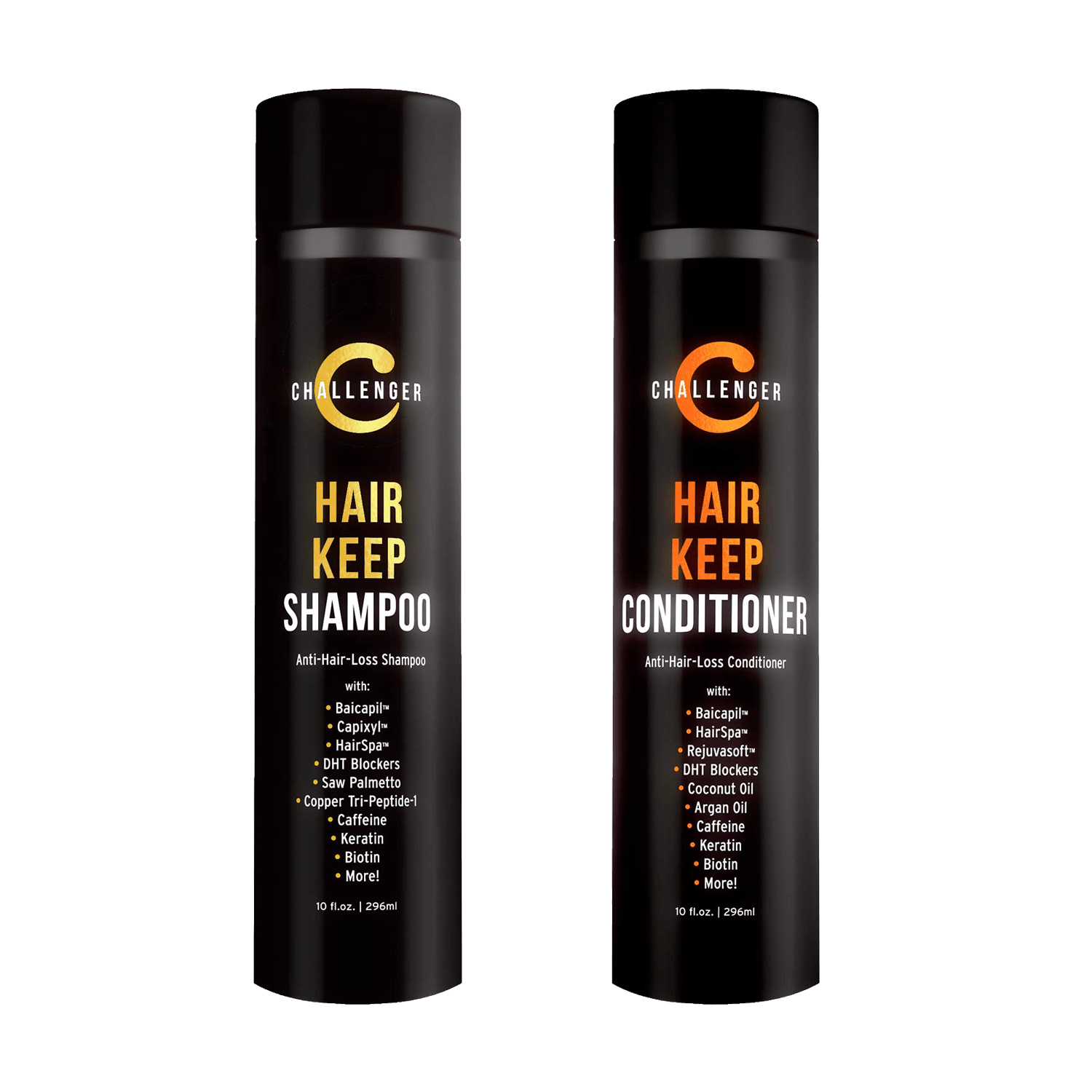 Challenger Hair Keep Shampoo & Conditioner, 2X 10 Oz Bottles - CHALLENGER MEN'S CARE