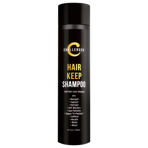Challenger Hair Keep Shampoo, 10 Ounce | DHT Blocking, Hair Growth Shampoo - CHALLENGER MEN'S CARE