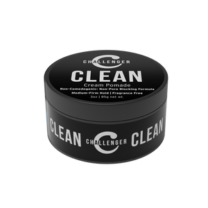 Challenger Men's Clean Cream Pomade, 3 Ounce - CHALLENGER MEN'S CARE