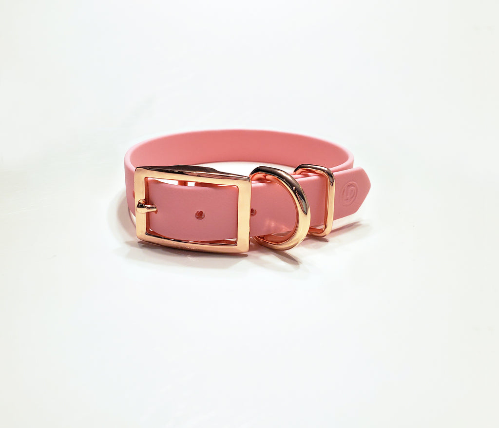 Luxury Pink Biothane Dog Collar by Luxury Pooch