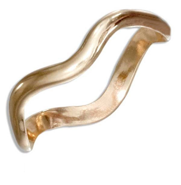 Ring - 12 Karat Gold Filled Wavy Band Ring