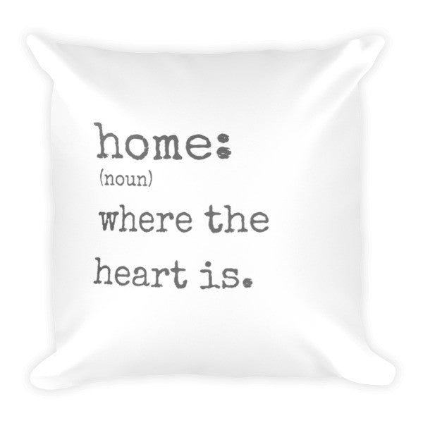 Throw Pillow - Home Definition