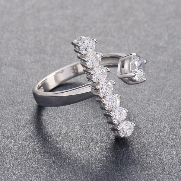 Silver Austrian Cubic Zirconia Ring