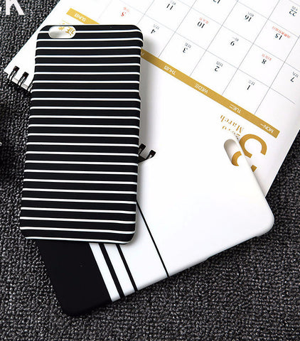 Striped Full Protect Phone Cases For iPhone 6 6s 6Plus 6Splus 5 5S capa