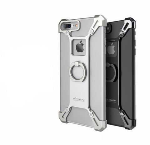 iPhone 7 plus Metal Cover Phone Case with Ring Stand