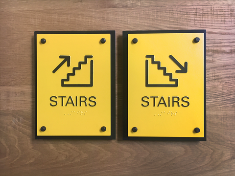 ADA Stairs Placards Set