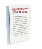 Commitment for Service Panel - Red