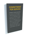 Commitment for Service Panel - Yellow