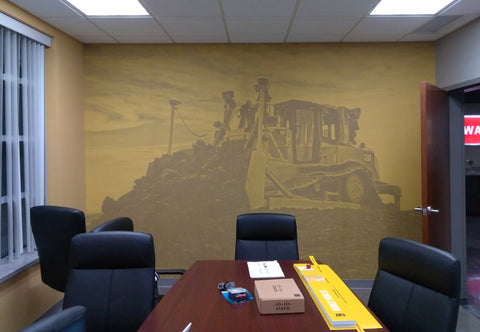 D6T Dozer Duotone - Wall Covering
