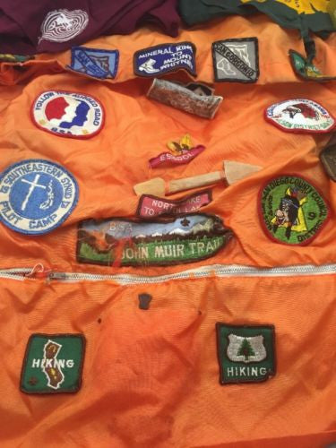 Vintage BOY SCOUTS OF AMERICA Collection SHIRT HATS Badges Handbook & More