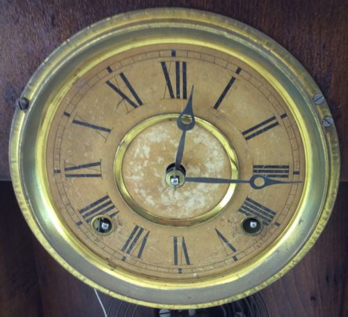 E. INGRAHAM Antique MANTEL CLOCK Shelf Mantle Regulator Pendulum BRISTOL CONN
