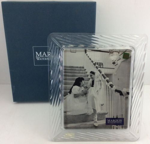 WATERFORD MARQUIS Boxed Unused SIENA 8x10 CRYSTAL PICTURE FRAME Austria NEW NWT