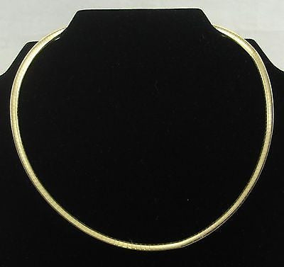 Vintage GOLD/SILVER REVERSIBLE NECKLACE Sterling .925 Silver 14K Gold Plated