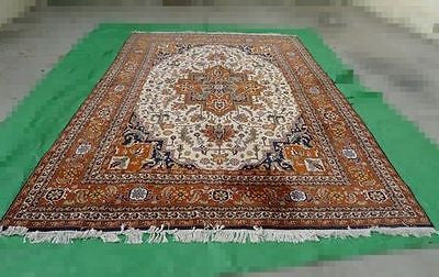 Vintage AREA RUG PERSIAN Hand Made WOOL Oriental CARPET 9' X 13' HUGE