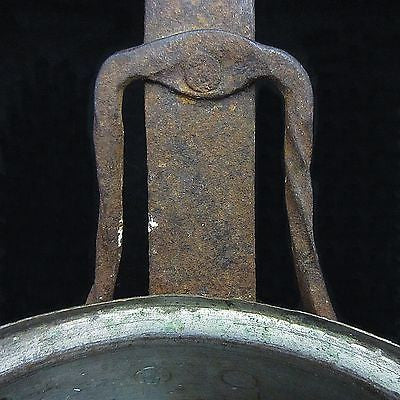 Antique Hearth ware Tinned Copper Pan w/Hand Wrought Iron Arts & Crafts Handle