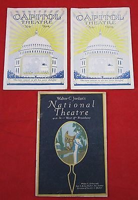 Vintage BROADWAY PLAY PROGRAMS Capitol National Theatre Theater Spencer Tracy