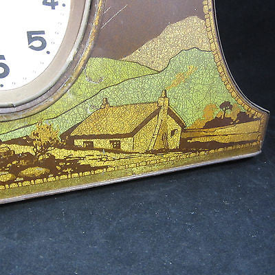 Antique Victory V Clock Tin English-Biscuit C 1900 C 1910's. No clock present.