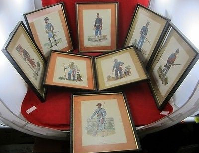 Vintage Lot CIVIL WAR Lithos DRAWINGS North South Union Confederate Historical