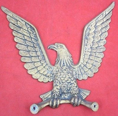 Vintage Decorative Painted ALUMINUM EAGLE Metal ware Home Yard Decor Wall Hang