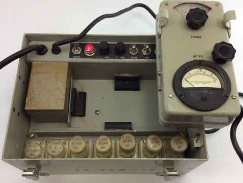 AN/PRM-10 MILITARY TEST OSCILLATOR SET Vintage GRID DIP METER Ham Amateur Radio