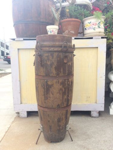 Antique Wooden KONGO DRUM Barrel Body Only No Cover Stripped Decoration Stand