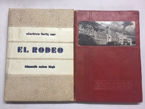 1941 1942 KLAMATH FALLS Union High School YEARBOOK EL RODEO Collectable WW2