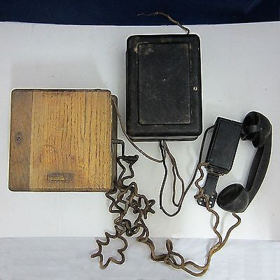 WESTERN ELECTRIC MAGNETO 48A RINGER F1/G1 Antique TELEPHONE HAND SET Crank Phone