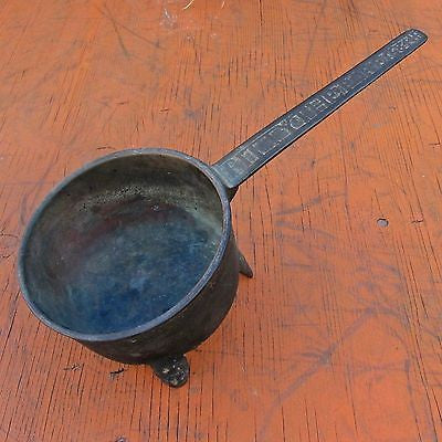 CHARLES II Bronze Alloy POSNET/SPIDER SKILLET Cooking Pot JOHN FATHERS FOUNDRY