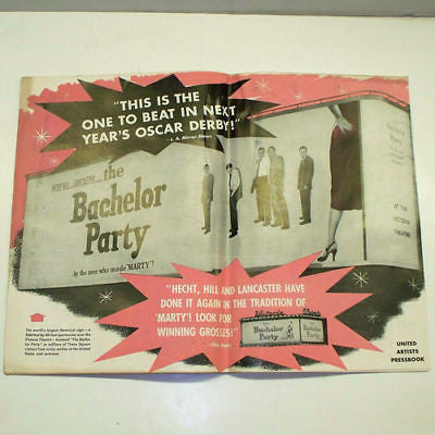 BACHELOR PARTY 1957 Movie PRESSBOOK Murray E.G Marshall