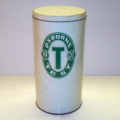 Vintage OSBORNE LABORATORIES Mid Century METAL TIN 1955