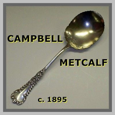 Antique CAMPBELL METCALF Serving Spoon STERLING SILVER