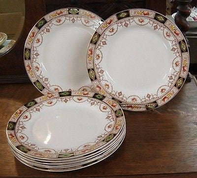 Staffordshire CHINA Wilkinson Hampton 10 LUNCH PLATES