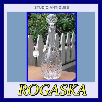 ROGASKA CRYSTAL Wine DECANTER & STOPPER Signed NEW